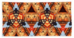 American Elections 2016 - Red White Blue Beach Towel by Art America Gallery Peter Potter