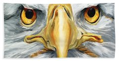 American Eagle - Bald Eagle By Betty Cummings Beach Towel by Sharon Cummings