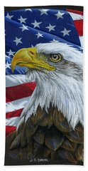 American Eagle Beach Towel by Sarah Batalka