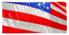 American Flag 1 Beach Towel