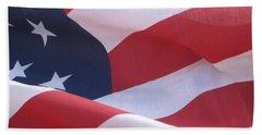 Beach Sheet featuring the photograph American Flag   by Chrisann Ellis