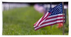 Beach Towel featuring the photograph American Flag by Jerry Gammon