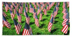 American Flags Forever Beach Towel by Gary Slawsky