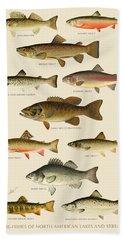 American Game Fish Beach Towel