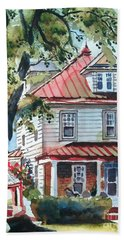 American Home With Children's Gazebo Beach Sheet by Kip DeVore
