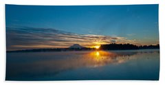 American Lake Sunrise Beach Sheet by Tikvah's Hope