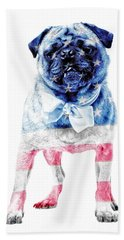 American Pug Beach Towel