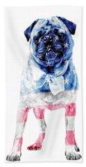 American Pug Phone Case Beach Towel