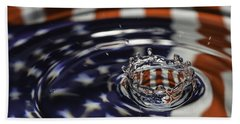 Beach Towel featuring the photograph American Water Crown by Betty Denise