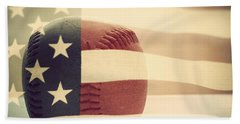 Americana Baseball  Beach Towel by Terry DeLuco