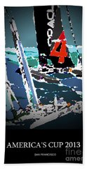 America's Cup 2013 Poster Beach Towel