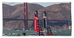 Americas Cup At The Gate Beach Towel