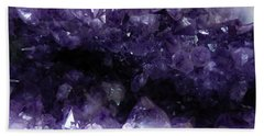 Amethyst Geode Beach Sheet by Amar Sheow