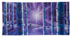 Amethyst Winter Beach Towel