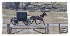 Amish Horse And Buggy March 2013 Beach Towel
