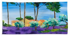 Among The Lavender Beach Towel