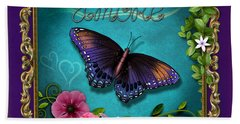Amore - Butterfly Version Beach Towel