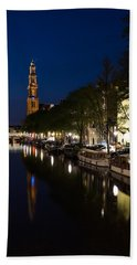 Amsterdam Blue Hour Beach Sheet