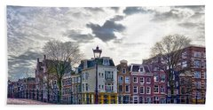 Amsterdam Bridges Beach Towel by Frans Blok