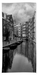 Amsterdam Canal Beach Towel by Heather Applegate