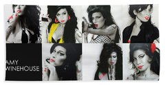 Amy Winehouse - ' Amy Eternal ' Beach Towel by Christian Chapman Art
