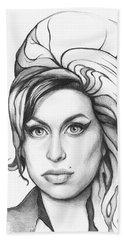 Amy Winehouse Beach Sheet by Olga Shvartsur