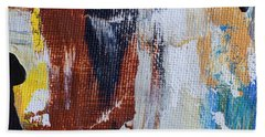 Beach Towel featuring the painting An Abstract Sort Of Weekend by Heidi Smith