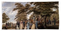 An Airing In Hyde Park, 1796 Beach Towel by Edward Days