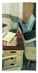 An Assortment Of Office Furniture Beach Towel