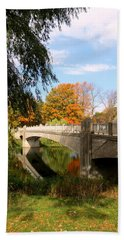 An Autumn Scene Beach Towel
