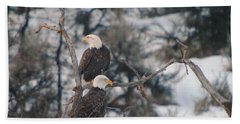 An Eagle Pair  Beach Sheet