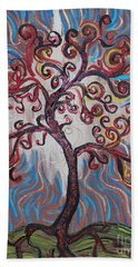An Enlightened Tree Beach Towel