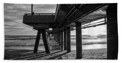 An Evening At Venice Beach Pier Beach Towel by Ana V Ramirez