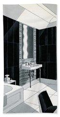 An Illustration Of A Bathroom Beach Towel