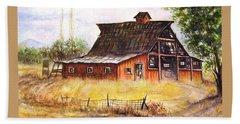 An Old Red Barn Beach Sheet