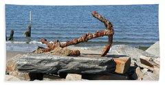 Beach Towel featuring the photograph Anchor by Karen Silvestri