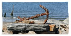 Beach Sheet featuring the photograph Anchor by Karen Silvestri