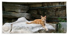 Ancient Agora Kitty Beach Towel