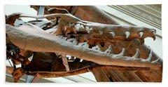 Ancient Crocodile Dinosaur Beach Sheet
