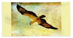 Ancient Hunter Beach Sheet by Carol Groenen