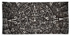 Aztec Sun God Beach Towel