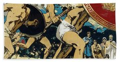 Ancient Olympic Games  The Relay Race Beach Towel