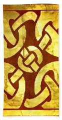 Ancient Ornamental Celtic Design Beach Towel