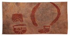 Ancient Pictograph Beach Towel