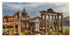 Ancient Roman Forum Ruins - Impressions Of Rome Beach Towel