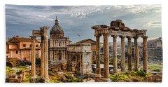 Ancient Roman Forum Ruins - Impressions Of Rome Beach Towel
