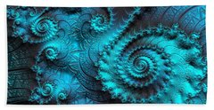 Ancient Verdigris -- Triptych 2 Of 3 Beach Towel by Susan Maxwell Schmidt