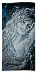 And God Created Woman Beach Towel by Absinthe Art By Michelle LeAnn Scott