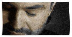 Andrea Bocelli And Square Beach Sheet