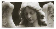 Angel Art - Ethereal Dreamy Angel Guardian Angel - Face Of An Angel Beach Sheet